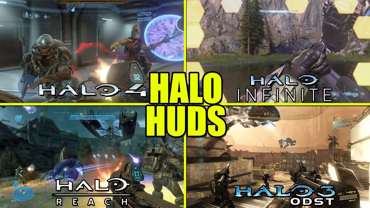 Worst to Best Halo HUDS of All Time From EVERY Halo Game