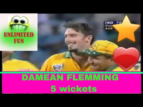 Damien Fleming 5 wickets vs india world cup 1996