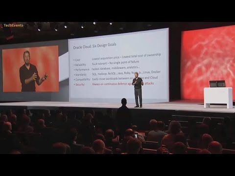 Oracle OpenWorld 2015 Conference Event Keynote with Larry Ellison