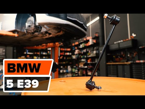 How to change a Front Anti Roll Bar Link BMW 5 E39 TUTORIAL | AUTODOC