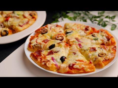 صورة  طريقة عمل البيتزا بيتزا الطاسه السريعه لن تفرقيها عن البيتزا الجاهزة في 10دقائق فقط بدون خميرة بدون فرن 🔝💯 طريقة عمل البيتزا بالفراخ من يوتيوب
