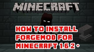 How to : Minecraft 1.6.4 + Forge Modloader Installation ! FML [HD]