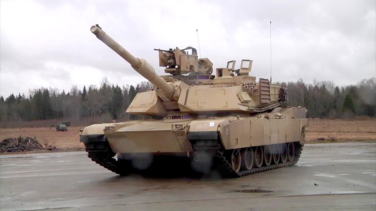3d9ab53809c3 The Most Feared Tank  M1A2 Abrams Tank Maneuvers Demo - YouTube