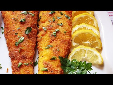 Fried Hake Fillets/fish Coated In Flour And Egg Recipe/How To Cook Fish/Pan Fried Hake Fillets