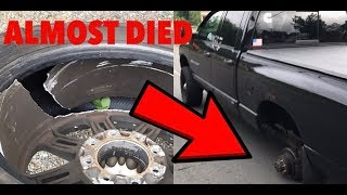 I cant believe this happen....( tire fell off )