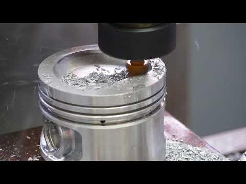 DIY CNC Milling machine. Piston machining.