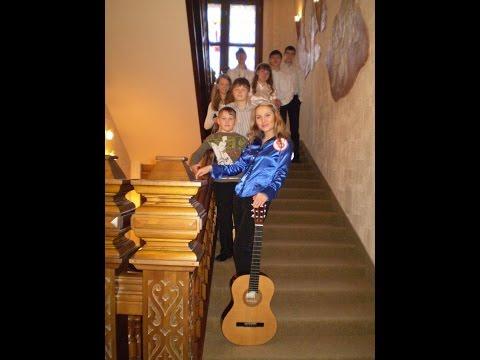 Школьный двор и смех подружек - на гитаре , аккорды (1 куплет)