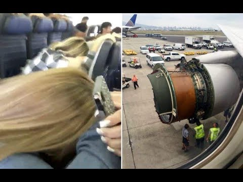 United Airlines passengers film in horror as engine cover is blown off during flight to Honolulu
