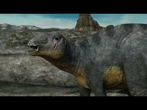 March of The Dinosaurs Edmontosaurus and Albertosaurus Chase/Death