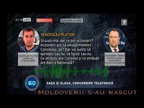 Inregistrare telefonică dintre, Alexandru Tănase și fostul deputat , Veaceslav Platon.