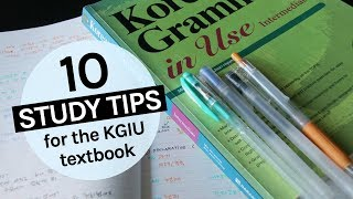How to study Korean effectively with Korean Grammar in Use | Note-taking tips