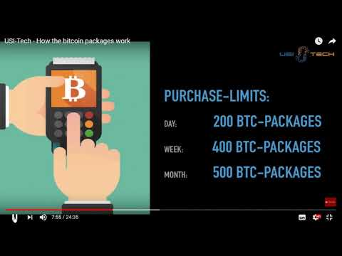 USI TECH - Bitcoin  packages explained and how to earn
