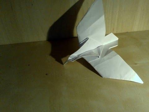 Origami facile l 39 aigle youtube - Origami youtube facile ...