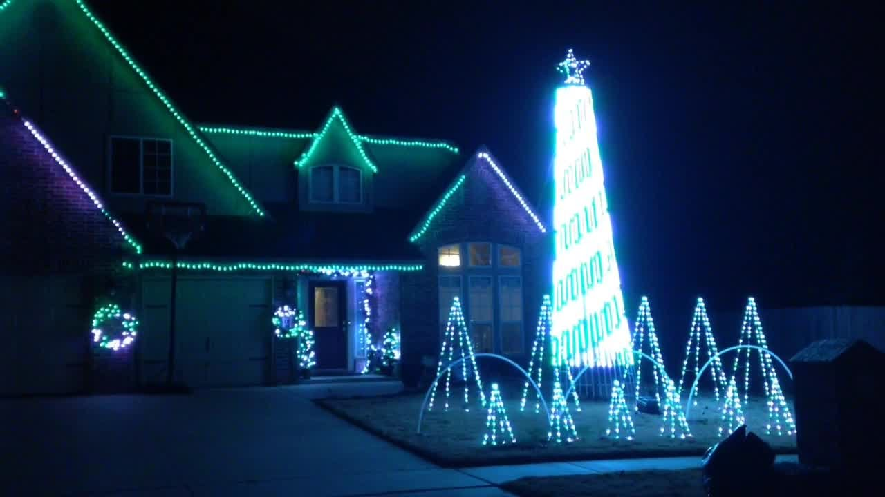 broken arrow house with christmas lights set to music youtube
