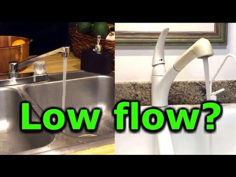 How To Fix Low Water Pressure In Kitchen Or Bathroom Faucet Sink Low Flow Moen Delta Kohler Youtube