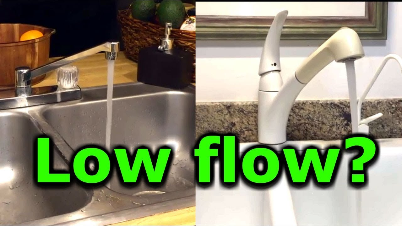 how to fix low water pressure in kitchen or bathroom faucet sink