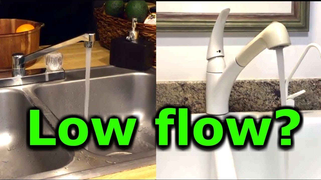 how to fix low water pressure in kitchen or bathroom faucet sink low flow moen delta kohler