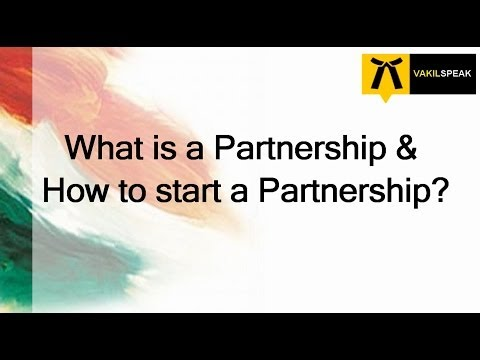 How to start a Partnership in India?