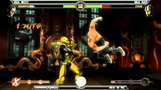 MK9 casuals GGA Dizzy (Cage) vs GGA HAN (Cyrax)