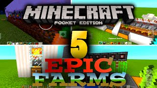5 Best Minecraft PE Farms That You Should Build!