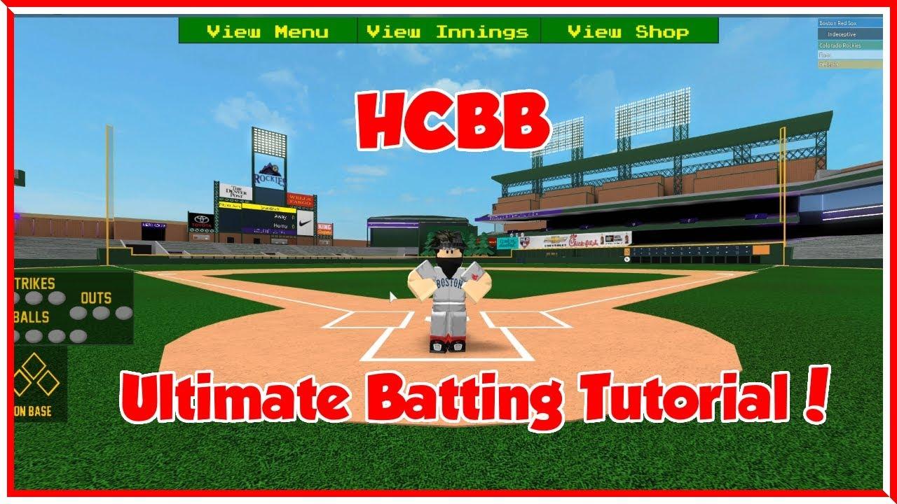 Ultimate Batting Tutorial How To Hit Homeruns Hcbb 9v9 Roblox