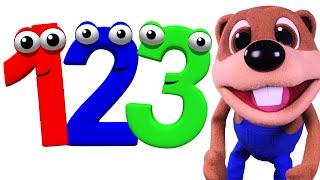 ¡La canción de los números!   Canta los números, Enseña Español a niños pequeños Busy Beavers