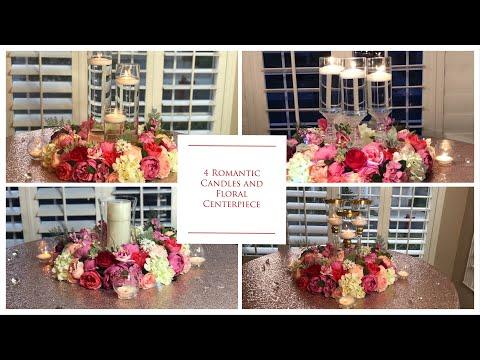 diy-romantic-candles-wedding-floral-centerpiece- -diy-floral-wedding-centerpieces- -how-to-tutorial