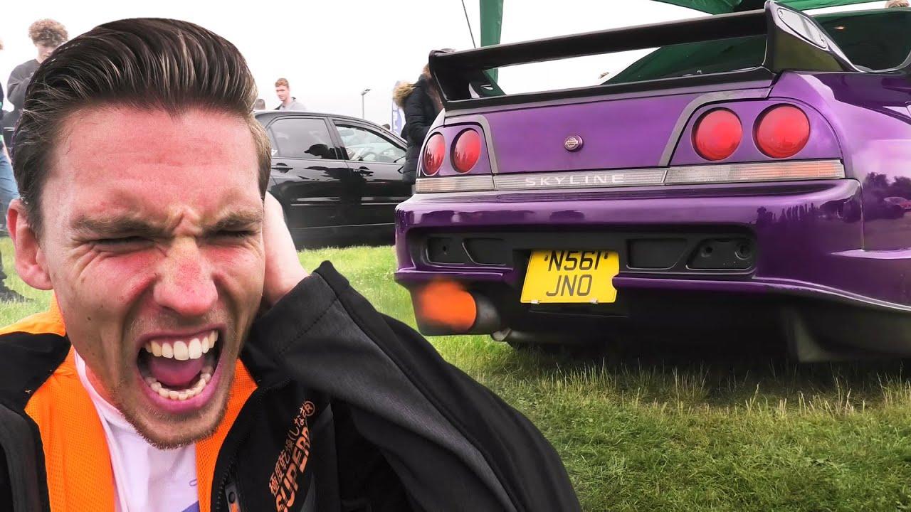 DEAFENING Rev Battle SHUTS DOWN Car Show!