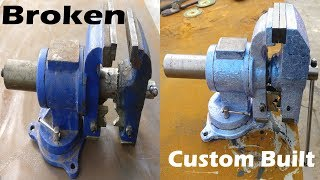 Restoration and Transformation of broken bench vise