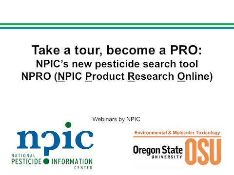 Become a PRO: NPIC's Product Research Online (NPRO)