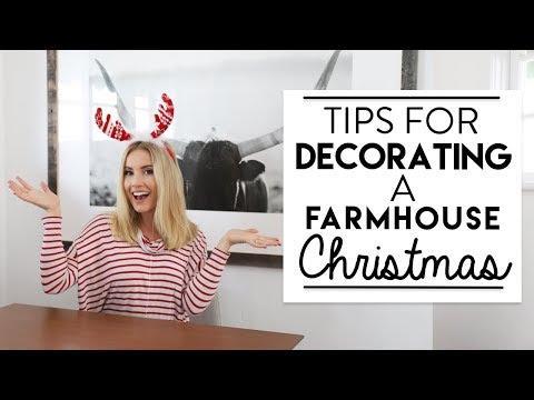 CHRISTMAS DECORATING | Farmhouse CHRISTMAS Design Style