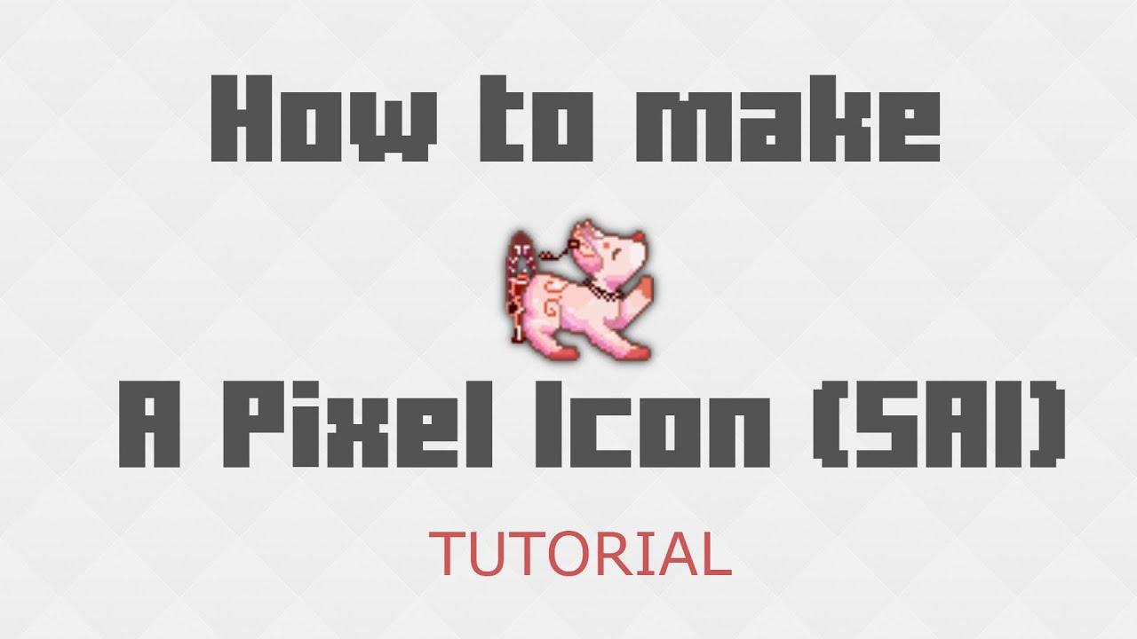 How To Make A Pixel Icon Tutorial (sai) (tutorial)