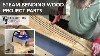 Steam bending is the technique of applying steam to wood to make it easier to bend. The steam heats and adds moisture to the ...