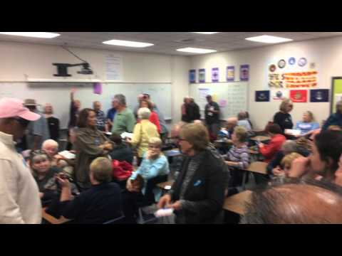 Denied right to film; No precinct chair at Ernest Becker Middle School #3789