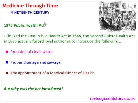Medicine Through Time - Nineteenth Century - Public Health