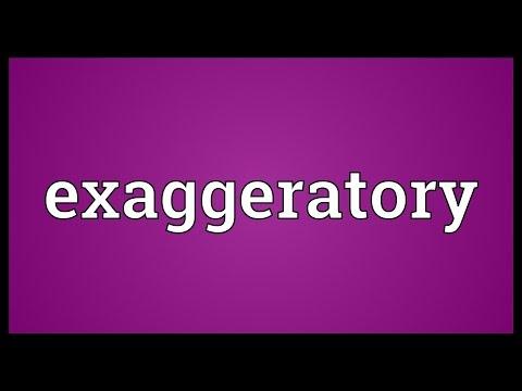 Header of exaggeratory