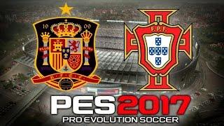 Pro Evolution Soccer 2017 Gameplay España vs Portugal (1080p 60fps)