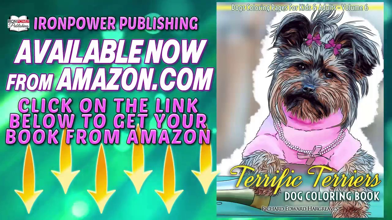 Coloring pages for down syndrome adults - Terriers Coloring Book For Kids And Adults V6 Amazon Dogs Coloring Books