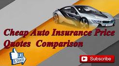 Cheap Car Insurance Quotes Compare