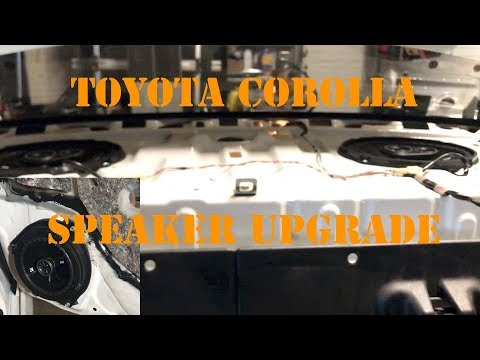 toyota corolla how remove rear deck speakers 09 13 doovi. Black Bedroom Furniture Sets. Home Design Ideas