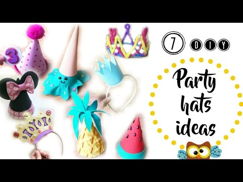 7 DIY IDEAS TO MAKE PARTY HATS (Part 1 ) - CROWNS