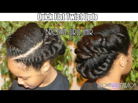Two-Strand Twist Out w/Bantu Knots | Kids Natural Hairstyle | IAMAWOG from YouTube · Duration:  4 minutes 58 seconds