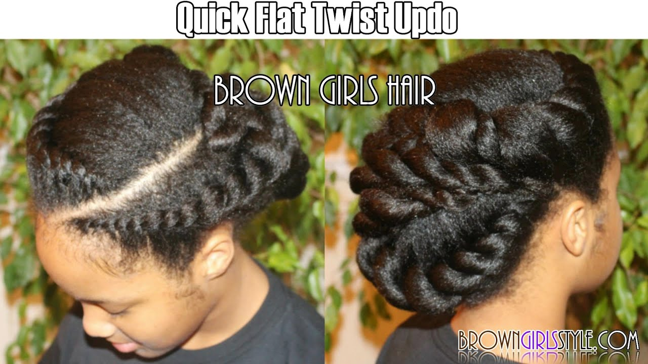 Quick Flat Twist Updo Natural Hairstyle Youtube