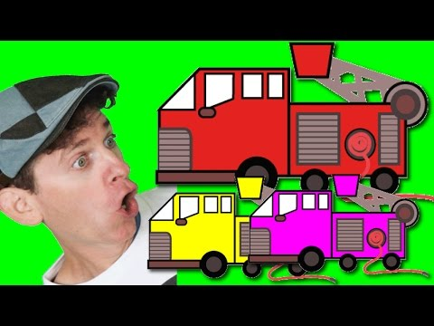 Fire Truck Song with Matt and Learn Colors | Colors, Transportation | Learn English Kids