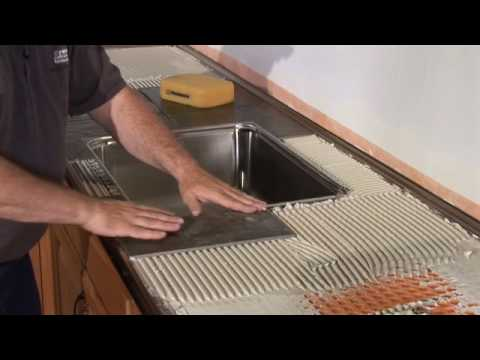 Schluter®Countertop System Installation Segment 3: Tiled  Under Sink/Backsplash/Tiles   YouTube