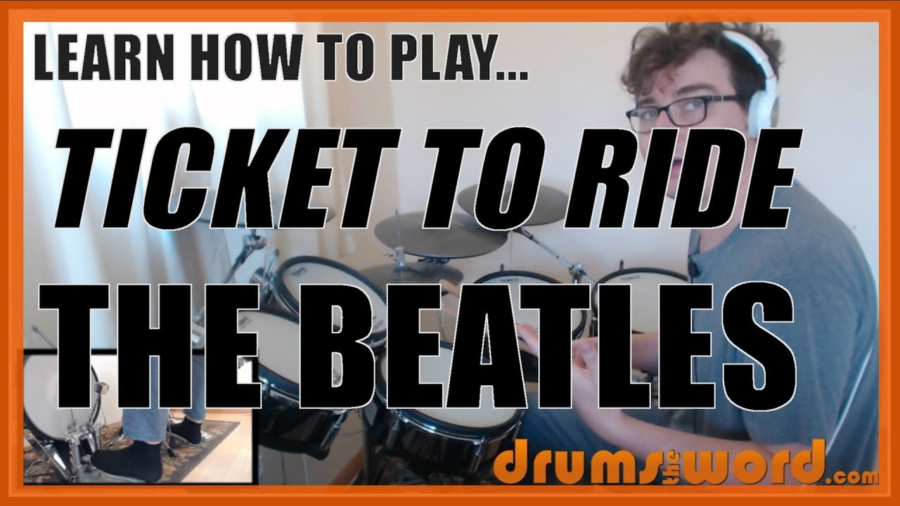 ★ Ticket To Ride (The Beatles) ★ Drum Lesson PREVIEW | How To Play Song  (Ringo Starr)