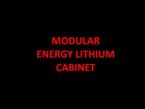MODULAR ENERGY LITHIUM CABINET WITH REMOTE DISPLAY