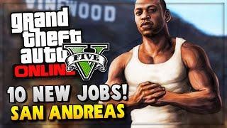 GTA 5 Online - New Mission/Jobs ! GTA San Andreas 10 Year Anniversary Special (GTA V Gameplay)