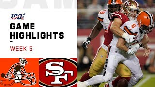 Download Browns vs. 49ers Week 5 Highlights | NFL 2019 Mp3 and Videos