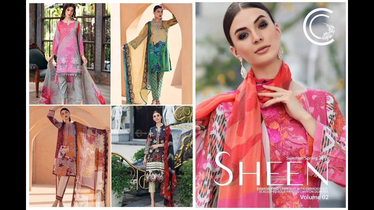 f79a5749d1 Charizma Sheen Vol-2 Unstitched Collection 2019-20=Embroidered Lawn Suit